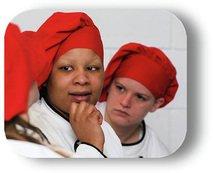 Women at jail culinary program